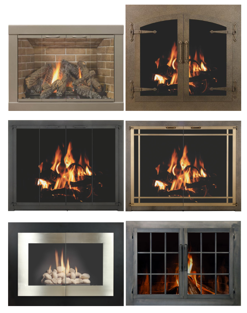 can glass for better how your home doors help fireplace new look