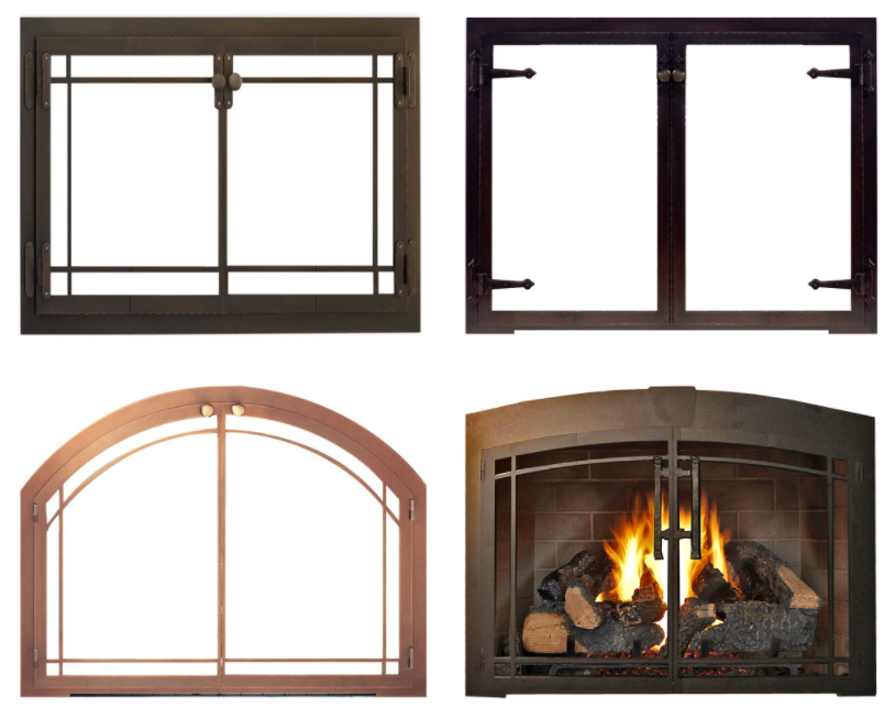 Glass Doors :: Hearth & Home : arched fireplace screen : Fireplace Design